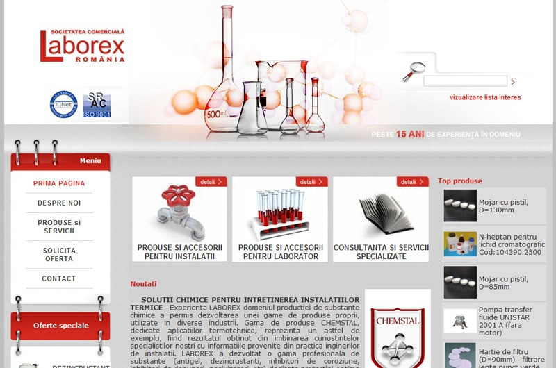 Website Laborex Romania