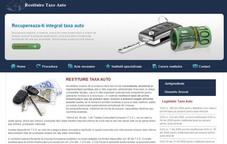 Restituire Taxa auto